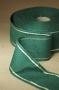 Ленточная канва льняная зеленая, с золотой отделкой 5 см