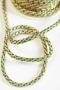 Шнур плетеный, золото с зеленым, 7 мм