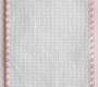 Ленточная канва, ширина 10 см, розовая отделка