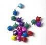 Бубенчики цветные матовые 8 мм, 10 шт.