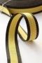 Лента ременная (стропа) желтая с черным