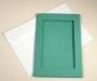 Открытка 10х15, окно-прямоугольник, зеленая