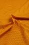 """Ткань """"Сиреневый горошек на оранжевом"""""""