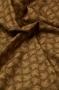 """Ткань """"Осенние узоры"""" листья на коричневом"""