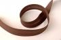 Косая бейка хлопковая, коричневая, 20 мм