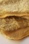 Искусственный мех мохер кучерявый золотистый