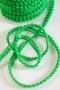 Тесьма с мини-помпонами зеленая