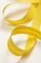 Косая бейка хлопковая, ярко-желтая