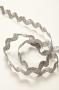 Тесьма зиг-заг 9 мм серебрянная