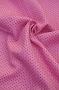 """Ткань вельвет """"Горошек на розовом"""""""