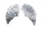 Крылья ангелов Тильда серые