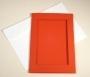 Открытка 10х15, окно-прямоугольник, красная