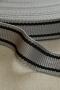 Лента ременная серая с черными полосами