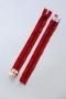 Молния Rizip металлическая 22 см, красная