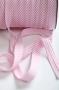 Косая бейка в розовую полоску
