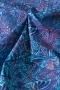 "Ткань батик ""MADAME BUTTERFLY"" бабочки на синем"