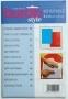 Копировальная бумага цвет синий и красный