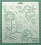 """Шаблон для стежки """"Floral & Leaf Corners"""""""