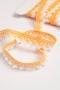 Кружево плетеное белое с желтым