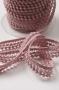 Тесьма с мини-помпонами двурядная, пепельно-розовая