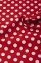 """Ткань """"Medium Dots"""" красная"""