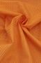 """Ткань поплин """"Горошек на оранжевом"""""""
