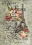 """Войлочное полотно с  рисунком """"Франция"""""""