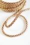 Шнур плетеный, золото с бордо, 7 мм