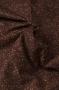 """Ткань  широкая """"Листья"""" на коричневом"""