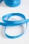 Косая бейка атласная, ширина 12 мм, ярко-голубая