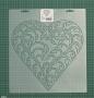 """Шаблон для стежки """"Scrolling Leaf Heart"""""""