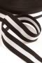 Резинка мягкая черная в белую полоску, 40 мм