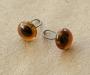 Глаза стеклянные на металлической петле 6 мм, коричневые