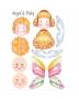 "Личики для кукол на фетре ""Ангелы и бабочки"""
