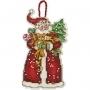 """Набор для вышивания елочной игрушки """"Санта"""""""