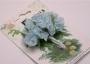 Букет цветов из лент, голубой