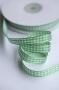 Лента в клеточку зеленая