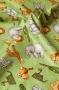 "Ткань""Jungle Buddies"" звери на зеленом"