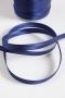 Косая бейка атласная, ширина 12 мм, темно-синяя