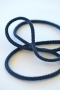 Шнур хлопковый синий, шир. 5 мм