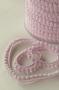 Тесьма с мини-помпонами светло-розовая