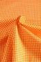 """Ткань """"Маленькая клетка"""" оранжевая"""